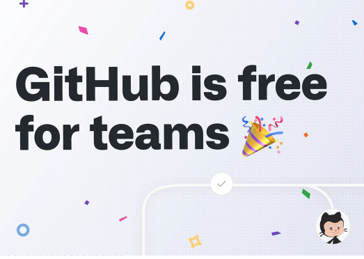 Github is free for teams too