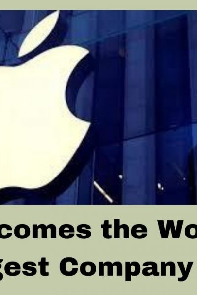 Apple becomes the world's largest company