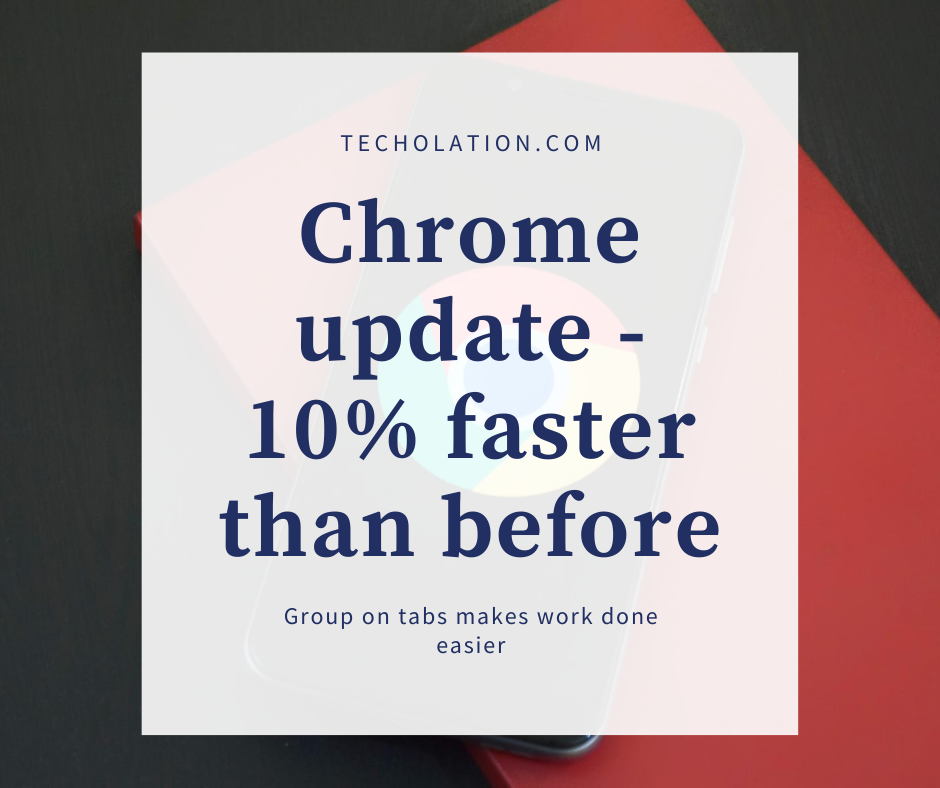 chrome update on tabs group