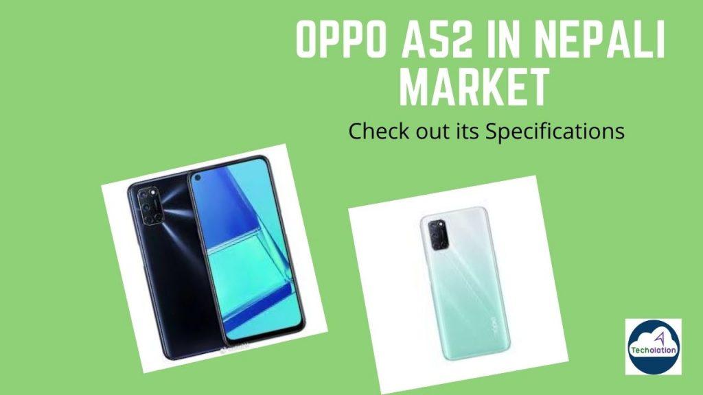 Oppo A52 in Nepali Market