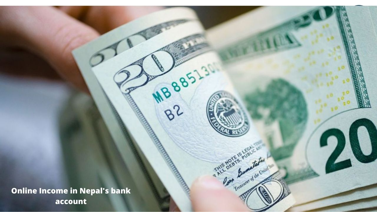 Youtube and online income in Nepal's bank account
